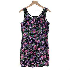 SHoK Vintage Denim Floral Buttonup Dress Pink 11